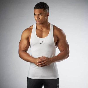 Custom Boys Bodybuilding Cut Off Polyester Tank Top for Men