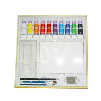 Peinture Aquarelle Acrylique Peinture Dessin Crayons Chubby Marqueurs Pastels à Lhuile Aiguiseur En Caoutchouc Palette Peinture Pinceau Ensemble