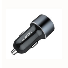 Lenovo HC12 Smart Car Charger 2-Poort 2.4A Fast Quick Lading Metalen DC 12-24 V Dual USB kosten Voor Mobiele <span class=keywords><strong>telefoon</strong></span> Tablet Camera