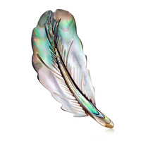 Natural Abalone Shell Brooch Feather Jewelry Lady Brooch Pin Clothing Pin Ladies Pin Up Women's Gifts Wedding Accessories