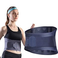 OEM flexible steel stays and adjustable elastic straps back waist lumbar brace for Knitted Waist Support Belt