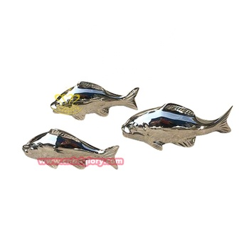 Best sale stainless steel plating fish sculpture for sale