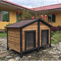 SDD012 Decorative Double Decker Dog Kennel Dog House for Large Dog