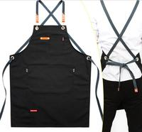 Cowboy apron Korean fashion restaurant barber floral artist coffee shop cotton apron