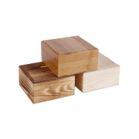 Free Sample Bamboo Nanmu Pine (carbonized) Heaven And Earth Cover Square Decorative Wooden Box With Lid