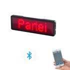 LED Bluetooth Rechargeable Light Up Flashing Magnetic Name Badge
