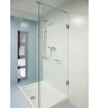 "1/2"" Ultra Clear Shower Door Glass Panel Tempered Thermal Stability"