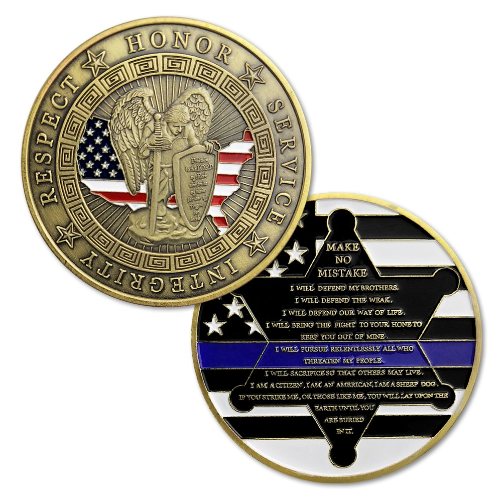 respect custom <strong>metal</strong> US army marines navy police guard motto challenge coin