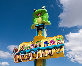 Crazy Excited game amusement fall tower rides 6 seat frog jump children rides