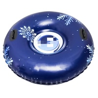 winter sport round durable inflatable snow tube for kids and adults