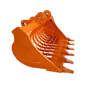 Excavator Grated Bucket with Double Side Cutting Edges