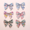 STAH13 New design cotton bow fabric clip chirldren girls hairpin princess hair ornaments.