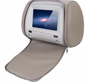 7 inch car Digital screen with headrest dvd player zipper cover IR 32bit game USB SD FM MP5 Car Headrest