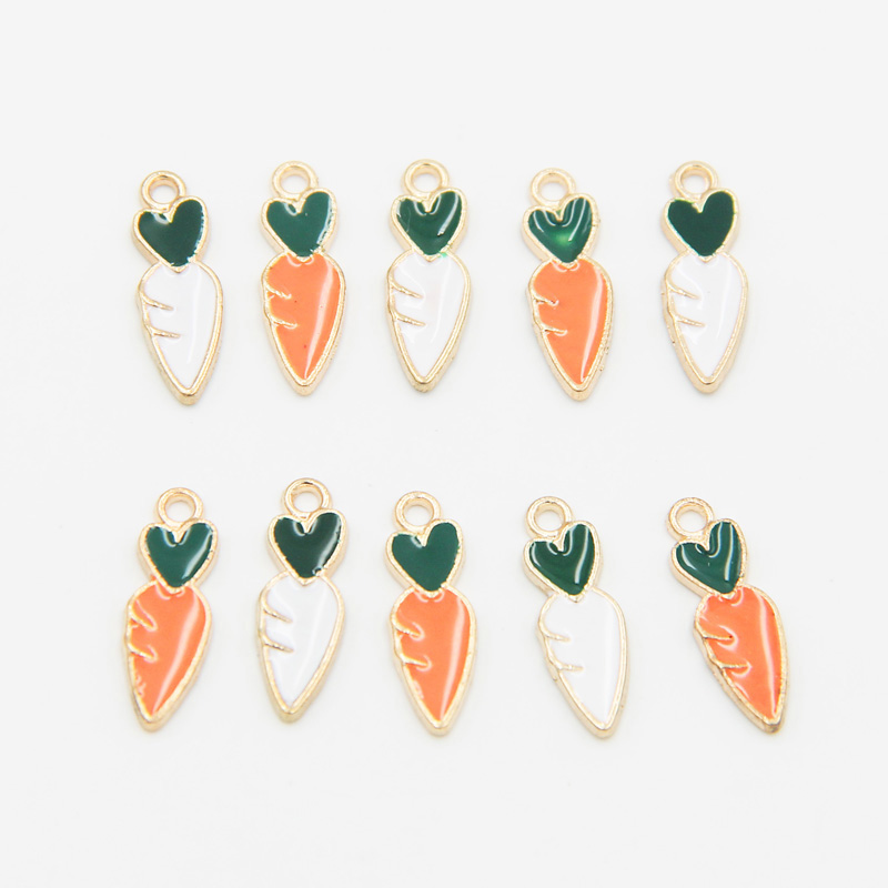 Cute Carrots Enamel <strong>Charms</strong> Gold Plated Oil Drop Carrot Necklace Pendants Wholesale DIY vegetable <strong>Charm</strong> for Earrings