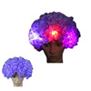 custom synthetic hair crazy Football Fans flashing light up led wig of factory price