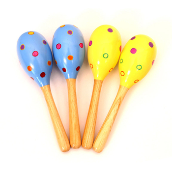 Maracas Wooden  Custom Maracas Wooden Baby Toys Kids Music Instruments wooden Toys Educational