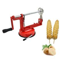 Manual Rvs Twisted Aardappel Slicer Spiral Franse Fry Groentesnijder