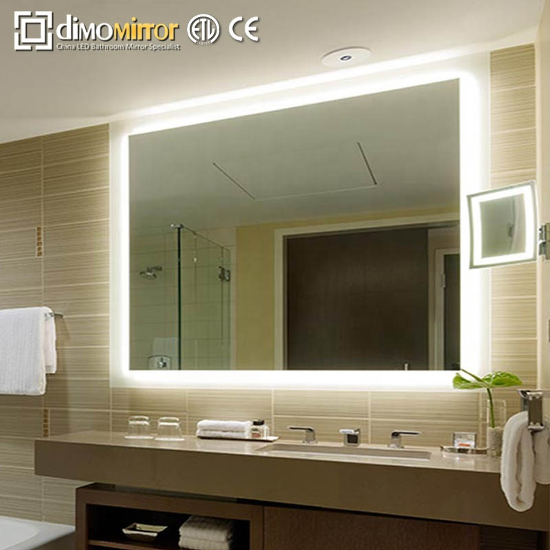Hot-Selling Contemporary LED lighted Large dressing Mirror Hair Salon Backlit Mirror