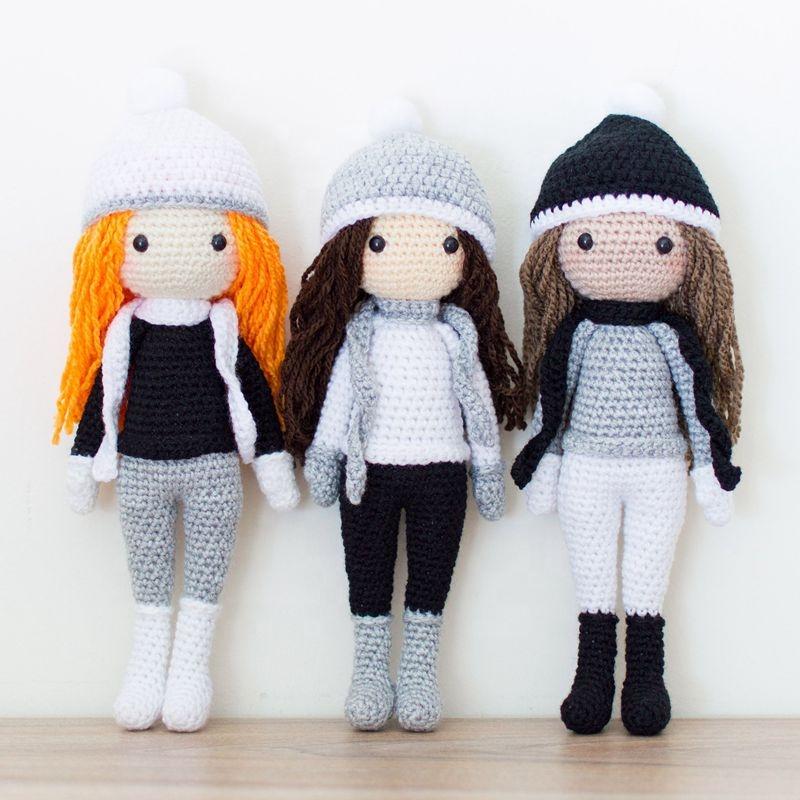 Amigurumi Детские сестры куклы крючком милые ручной работы для девочек игрушки