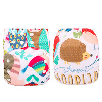 Happyflute new design suede cloth innerOS pocket positional print diaper baby reusable cloth diaper