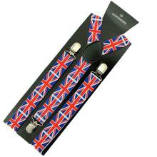 Hot Sales Volwassenen Kids Union <span class=keywords><strong>Jack</strong></span> Vlag Britse Clip Op Elastische Bretel Braces Fancy Dress SF703
