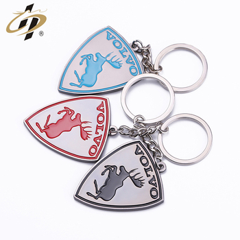 Batch customization Exclusive to large brands metal enamel  keychain key ring for Volvo
