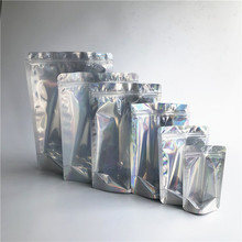 Voorraad Folie Metallic stand up rits <span class=keywords><strong>zak</strong></span> hologram glanzende cosmetische tas met clear window noni hologram body <span class=keywords><strong>scrub</strong></span> tas
