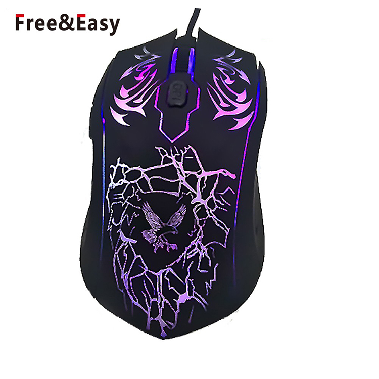 USB Wired Optical Mouse Color : Black XIAMEND 7 Colors LED Backlight Gaming Mouse