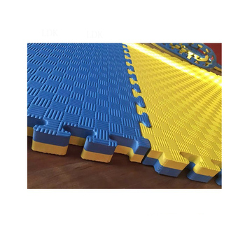 Factory sale blue/yellow exercise sports mat EVA mat for sale