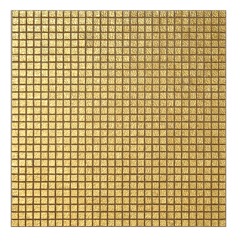 Top-grade chemical resistance non fading yellow gold sandwich 24K leaf mosaic tile for background wall decor