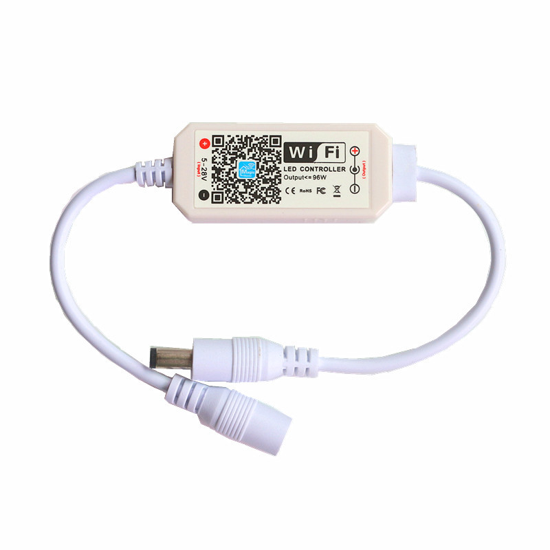 DC 5-28 V Magic Thuis Mini Dimbare Draadloze WiFi Controller voor SMD 2835 3014 3528 5050 5630 5730 enkele Kleur LED Strip licht