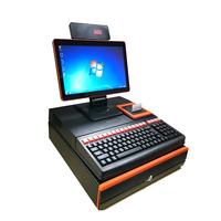Cheap POS System All In One Terminal Machine 15.6 inch Electronic Cash Register Printer POS Cash Drawer Systems