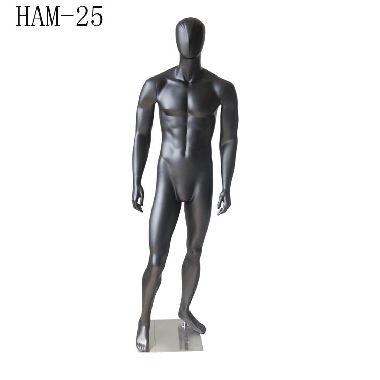 कस्टम मैट काले पूर्ण शरीर खिड़की प्रदर्शन पुरुष पेशी FRP पुतला