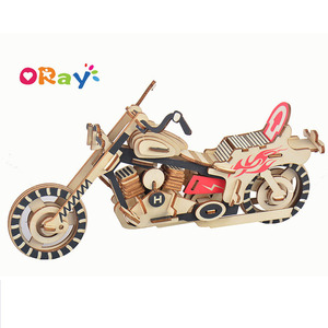 3D Laser Cutting and Engraving Wooden Puzzles and Toys DIY Assembly Model Thunder Harley Motorbikes