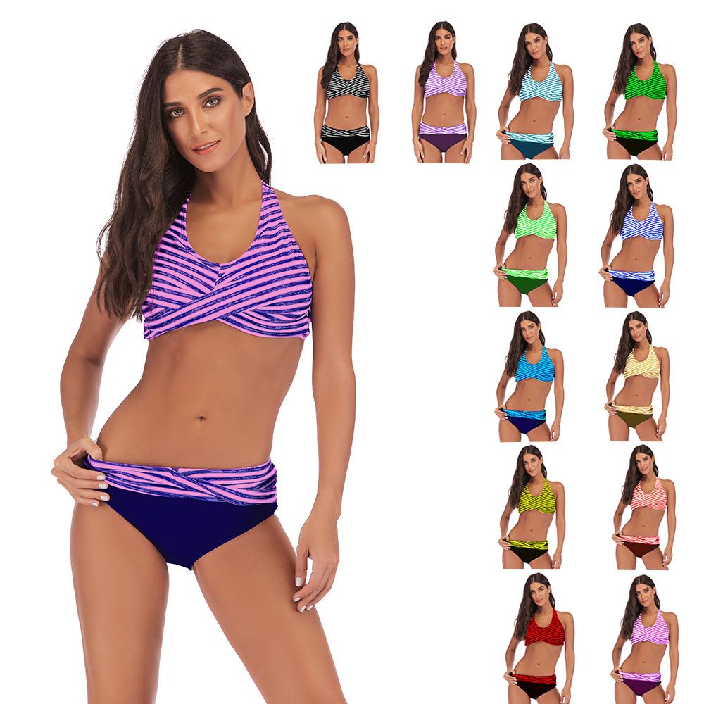dcdce1c84f Grande Taille 5XL Imprimé Maillots De Bain Femmes Bikini Ensemble Maillot  de bain Push Up Femelle