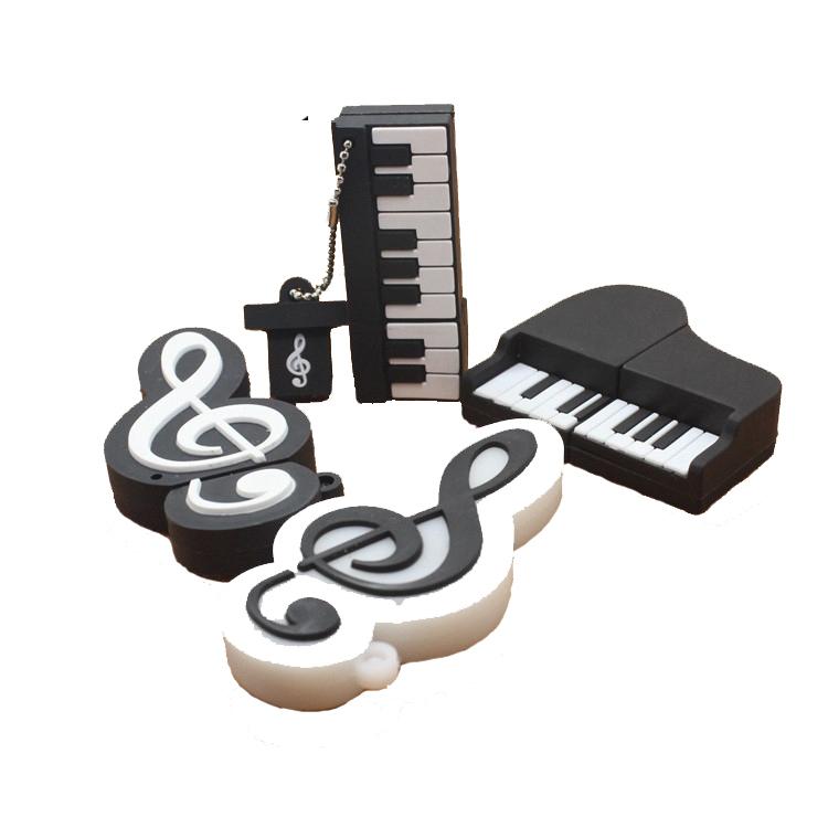 Cute Plastic Guitar USB Flash Drive 4GB 8GB 16GB 32GB USB2.0 USB3.0 Pendrive Custom Gift For Kids