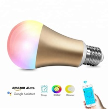 Dimmable Musik RGB Warna Sihir <span class=keywords><strong>WIFI</strong></span> Bluetooth 12 W 15 W Smart LED Bulb