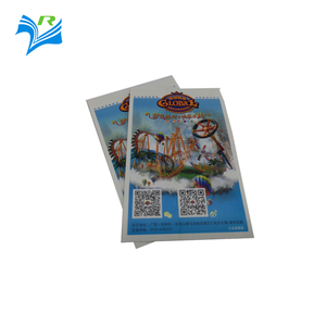 Custom printing paper card material amusement park tickets label sticker