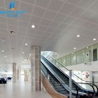 Square shape integrated aluminum lightweight ceiling tile for interior decorative