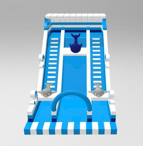 Commercial material PVC small or big inflatable bouncer water slide for kids and adults with pool and blower for sale
