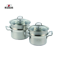Wholesale High Quality Stainless Steel thick soup pot with Professional steamed grid 18cm egg-bolied pot