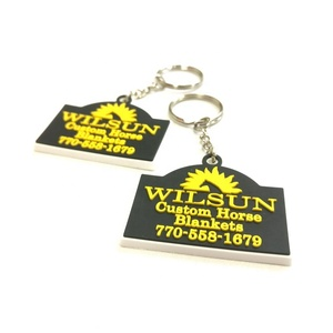 customized rubber keyholder with logo