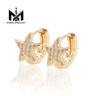 2019 new star design simple gold plated small earring for women