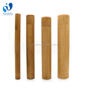 WanuoCraft Eco Friendly Hand Made Travel Storage Case Portable Natural Bamboo Tube For Packing Toothbrush Straw Flatware