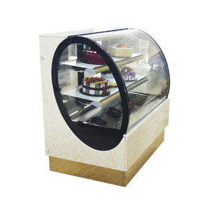 Huaer confectionery display glass refrigerated cake showcase
