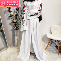 1713# Dubai size beautiful long sleeve muslim dress kimono plus size cardigan for wedding kaftan white color abaya wholesale