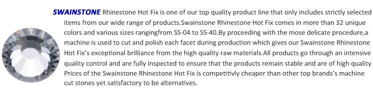 0318W 50%OFF YAX Swainstone High quality Full colors hot fix pedreria low lead hotfix rhinestone 16SS