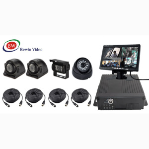 SD card MDVR, Mobile DVR Kit for vehicle 4CH Realtime CCTV H.264 4CH 720P Mobile Car Vehicle DVR dual SD Card low price