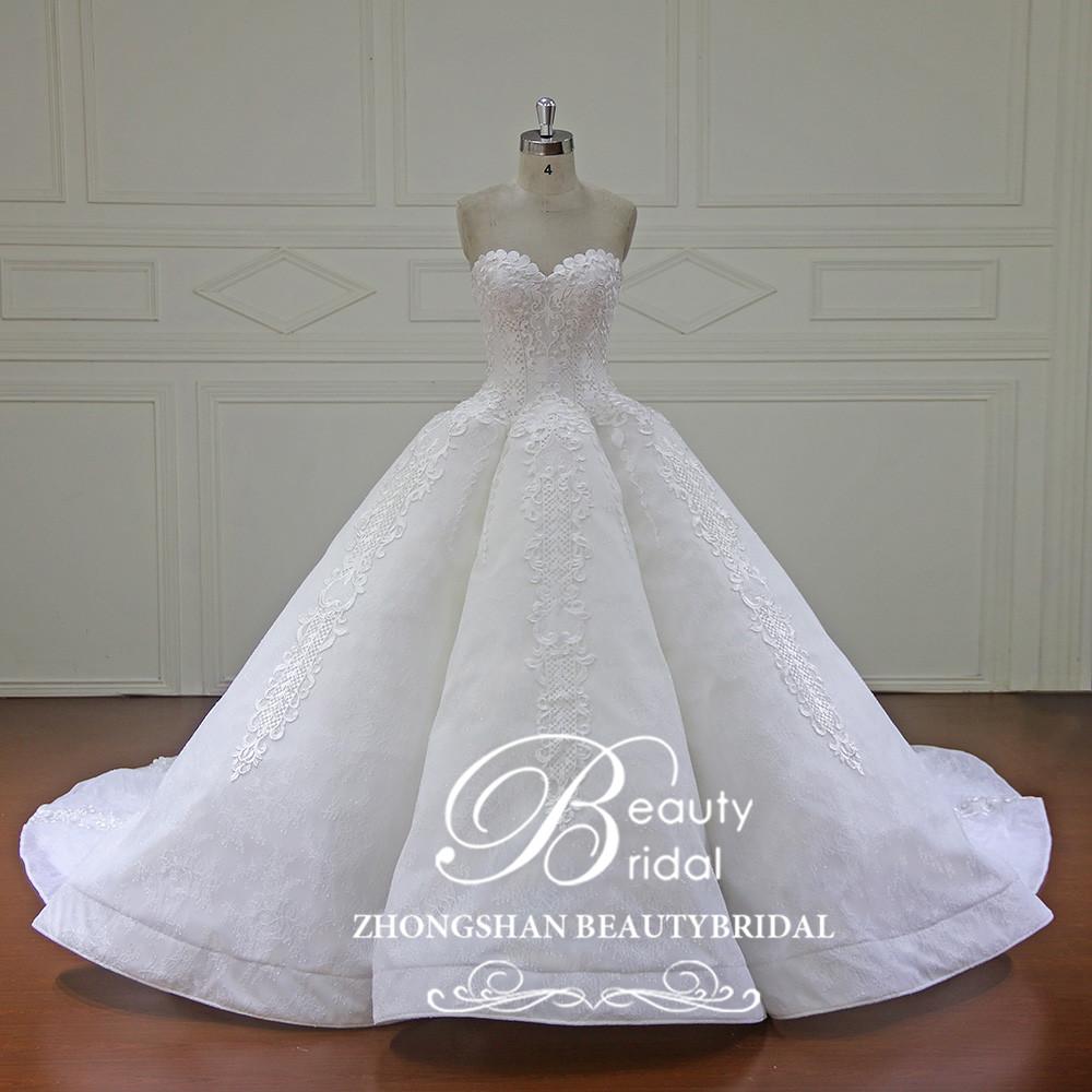 Newest Wedding Dress.Xf16147 Newest Design Of Ball Gown Wedding Dress 2019 Fashion Sweetheart Neckline Bridal Dress With Long Train Buy High Quality Ball Gown Wedding