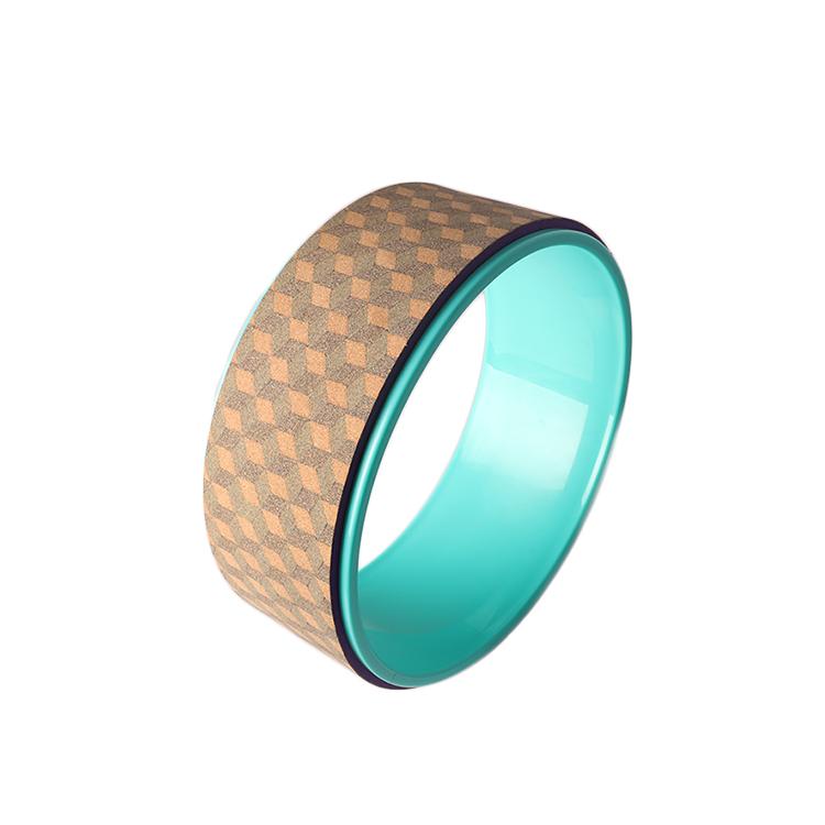 مخصص صديقة للبيئة الفلين عجلة اليوغا الخشب Oem مخصصة شعار عجلة اليوغا لليوجا